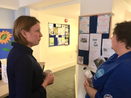 Patron Tracey Crouch MP Walderslade Hub Visit (1)